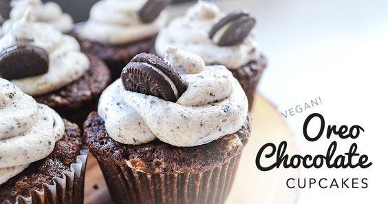 Vegan Oreo Chocolate Cupcakes