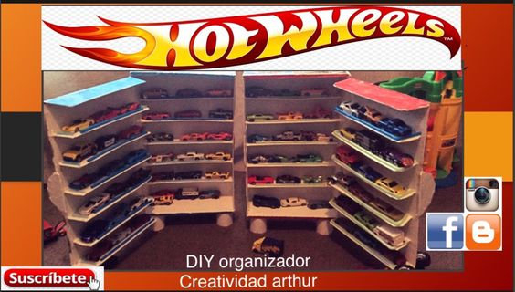 DIY ORGANIZADOR hot wheels