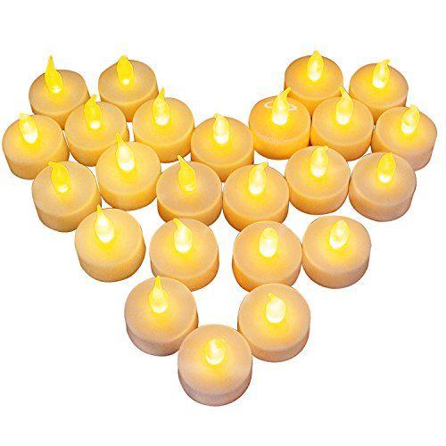 24 Led Kerzen Diyife Led Flammenlose Tealights Flackern