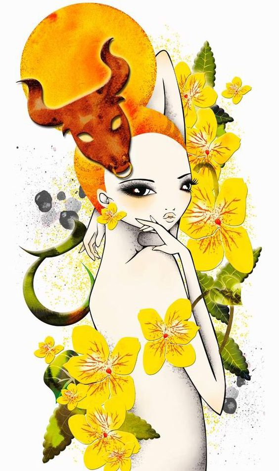 cute astrology art taurus