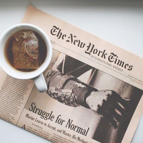 The New York Times is a wealth of information from all over the world. It covers anything from the stock market to the latest sports news.