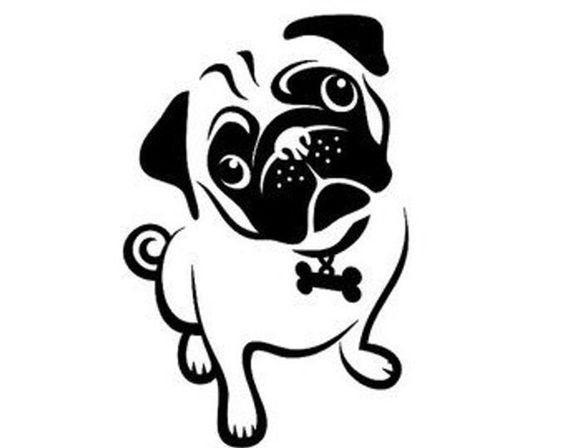 Pug Dog Digital Download Svg Etsy In 2021 Animal Stencil Dog Stencil Pugs