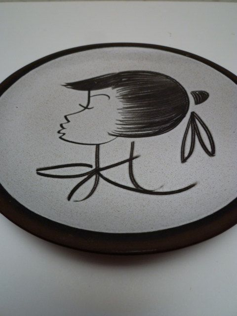 VINTAGE 50s HANGING PLATE by fabmolly on Etsy