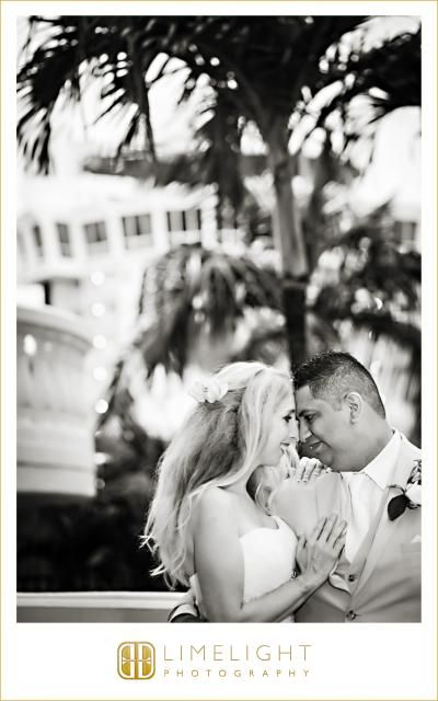 Bride and groom, black and white picture, Sirata Beach Resort, Limelight Photography, www.stepintothelimelight.com
