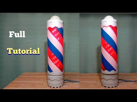 Cara Membuat Lampu Hias Putar Barbershop Dari Kipas Angin Mini Lampu Pvc Diy Youtube Perhiasan Lampu Kipas