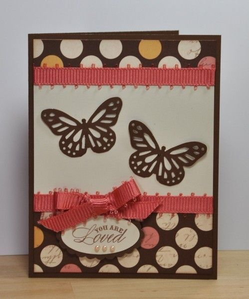CTMH Butterly card scrapbook-cards