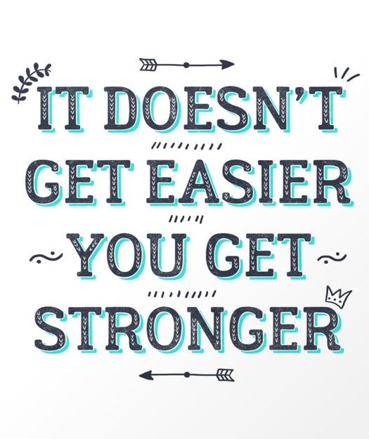 You Get Stronger Inspirational Quote Art Print | Society6: