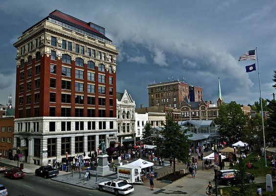 Cheapside Park is Lexington favorite new place to gather for music and downtown enjoyment. KY, USA