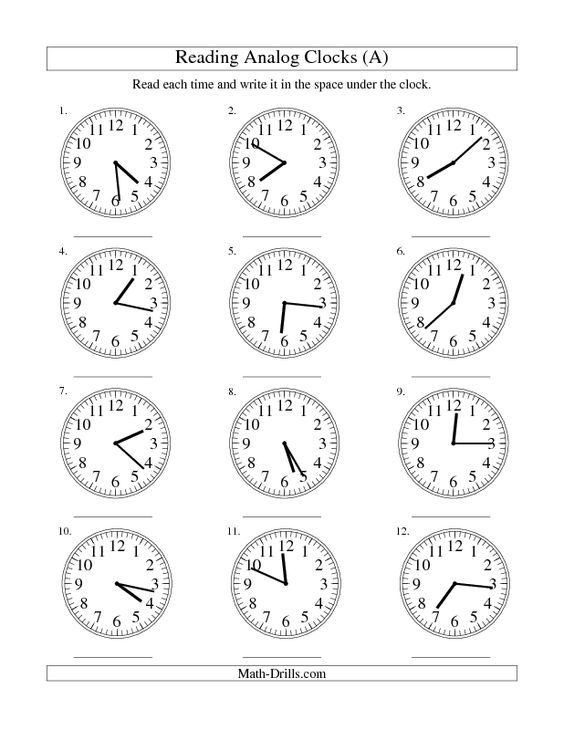 Clock, Measurement worksheets and Reading on Pinterest