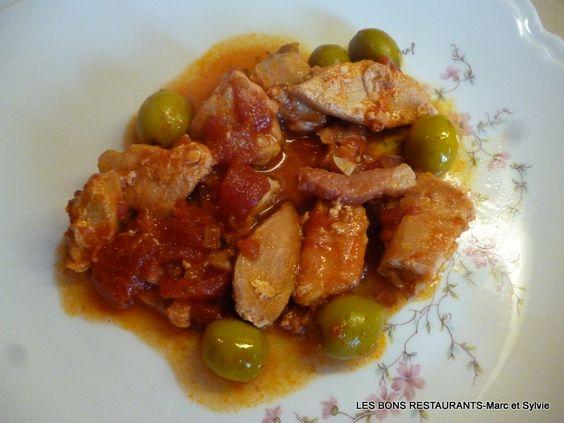 Poulet sauté aux olives!