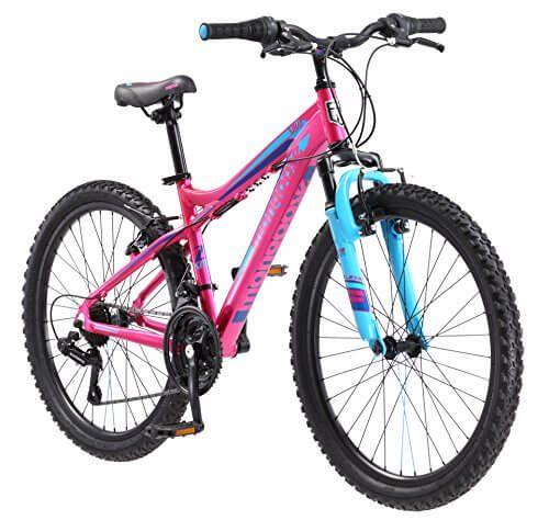 Mongoose Girls Silva Mountain Bicycle Pink 24 Wheel 13 Small
