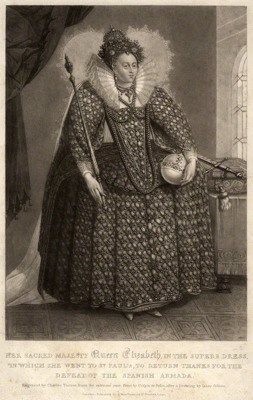 الملكة إليزابيث الأولى عام 1816 تشارلز تيرنر Charles Turner Elizabeth I Art Com