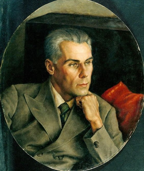 Portrait of a man by Vasily Shukhaev ( Russian, 1887–1972)