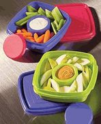 for lunches. the center part has a separate lid for dips. $4.49 at inchbug