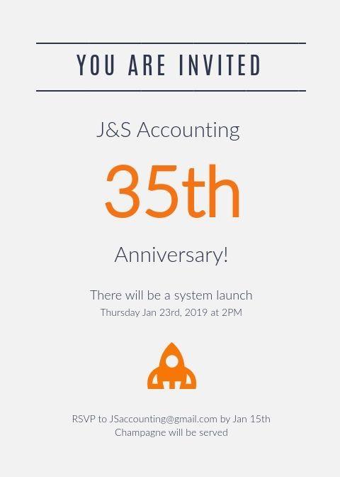 Business Anniversary Invitation Anniversary Invitations Invitation Template Party Invite Template