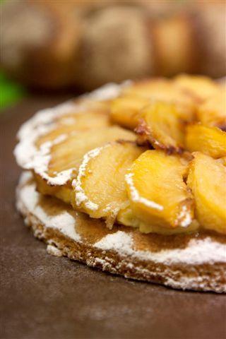 sablé gourmand aux pommes caramellisés