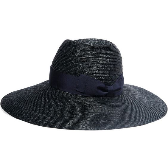 Lanvin Grosgrain-trimmed straw hat ($535) ❤ liked on Polyvore featuring accessories, hats, lanvin hat, lanvin and straw hat