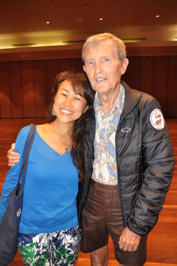 Bill and Kiko at Will Tuttle's talk organized by Vegan Society in Hawaii