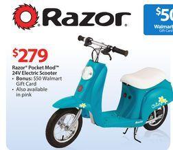 Razor 174 Pocket Mod 24v Electric Scooter From Walmart Usa