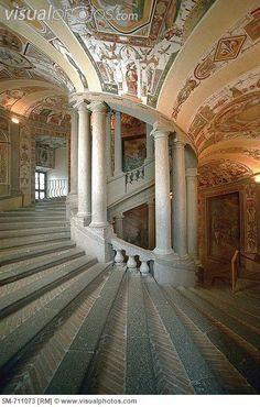 Caprarola, Lazio ~ Palazzo Farnese, scala reale. Italy