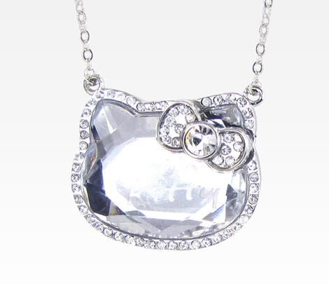 Hello Kitty Die-Cut Gem Necklace: for suzi