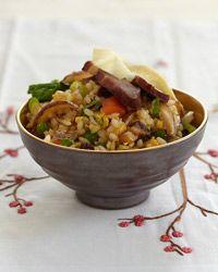 Pork egg rice recipe