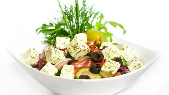 Salade de tofu à la grecque.