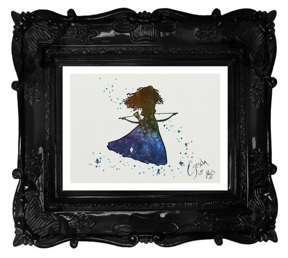 Brave archival fine art print Merida Watercolor by TentakittyInk