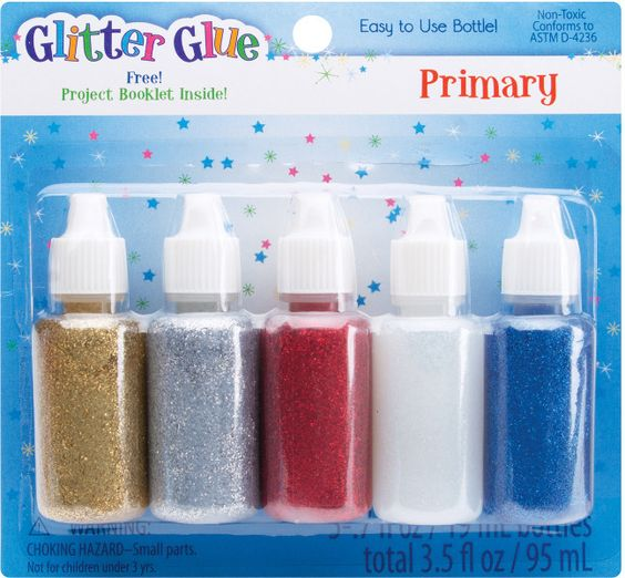 Glitter Glue .7 Ounces 5/Pkg-Regular