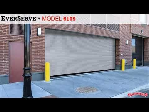Springless Rolling Service Door Everserve From Overhead Door Youtube Overhead Door Doors Residential Garage Doors