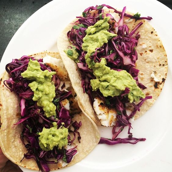 Broiled tilapia tacos have become a weeknight staple around here. Fish+oil+simple rub under the broiler for 5 minutes, simple slaw with cilantro and lime, avocado, and hot sauce. Ready in minutes and so good!