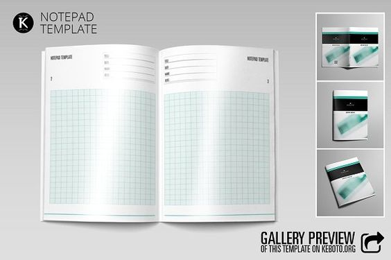 Notepad Template by Keboto on @creativemarket Templates - notepad template word