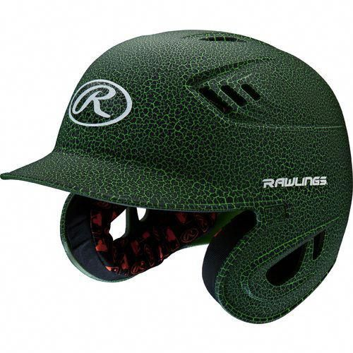 Rawlings Adults R16 Raptor Crackle Finish Batting Helmet Baseballhelmet Batting Helmet Baseball Helmet Rawlings