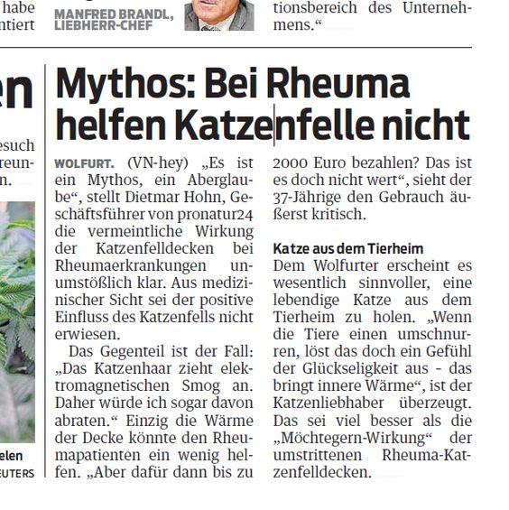 Interview der VN Vorarlberger Nachrichten mit PROnatur24