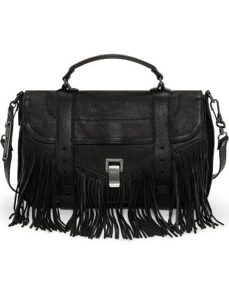 PS1 Medium Lux Leather Fringe Satchel at Westfield Burwood
