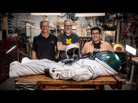 Visiting The Cave This Week Are Two Of Adam S Friends Spacesuit