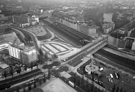 Berlin: Messedamm-Masuren-Allee; vom Funkturm (1965)