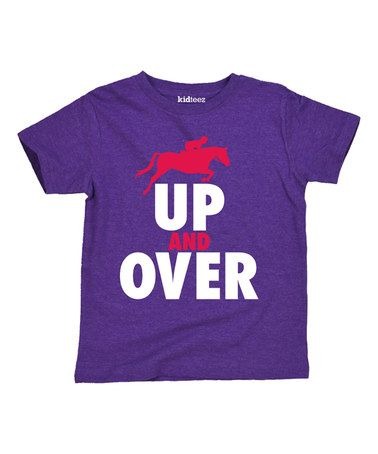 Loving this Purple 'Up and Over' Tee - Toddler & Girls on #zulily! #zulilyfinds