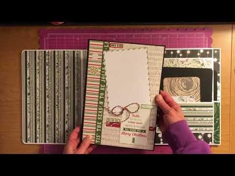 Photo Folio Album Using Bo Bunny Garden Party Collection Youtube