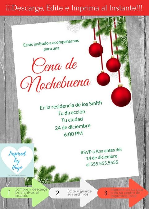 Invitación Cena De Nochebuena Invitación Cena Familiar