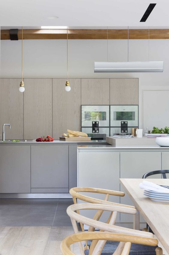 more details on modern white oak kitchen | modern kitchen, Innenarchitektur ideen