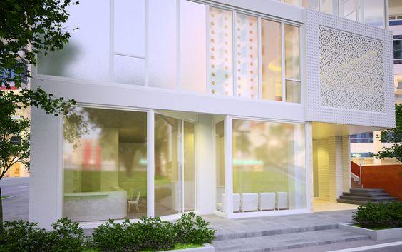 CG.S.035 建築パース 中層物件 外観・内観・鳥瞰あり お問い合わせ | 建築パース制作