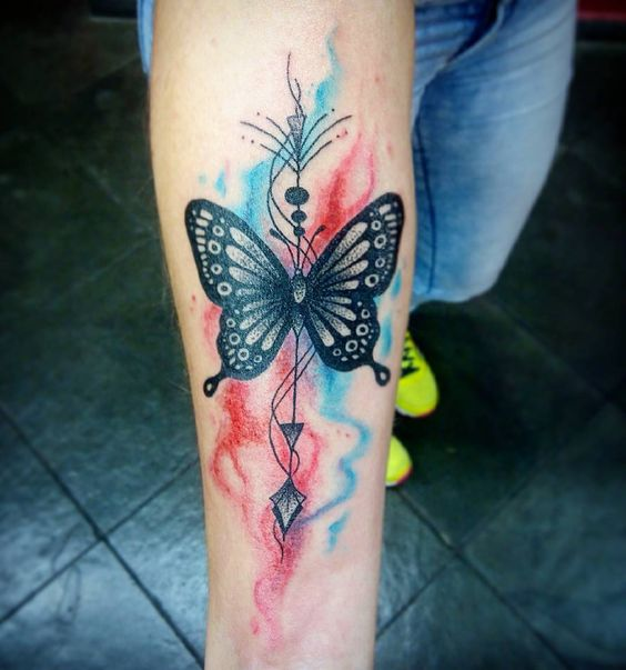 Color smoke butterfly of gods?   .  Dúvidas e Orçamentos ⏩(45) 3035-5881⏪ Luiz Henrique   booth_o --------- Contact:  Âncoras Tattoo Shop ⚓  +55 45 9925-7696 www.facebook.com/ancorastattoo  #smoketattoo #butterflytattoo #butterfly #smokecolor #colortattoo #colors #watercolor #watercolortattoo #girlstattoo #tattoo2me #inspirationtattoo #girlstattoo #tatuagemdelicada #ancorascascavel #ancorastattooshop #LuizHenriqueBooth