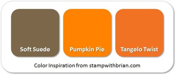 Stampin' Up! Color Inspiration (Pumpkin Spice): Soft Suede, Pumpkin Pie, Tangelo Twist:
