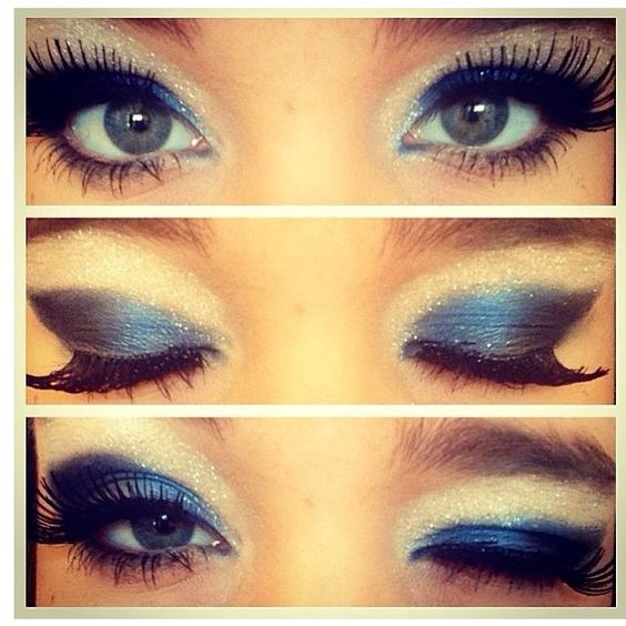 Cheer makeup would have to do this but with purple!