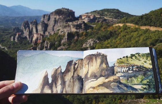 Hungarian watercolour artist Lilla Schuch loves capturing beautiful landscapes…