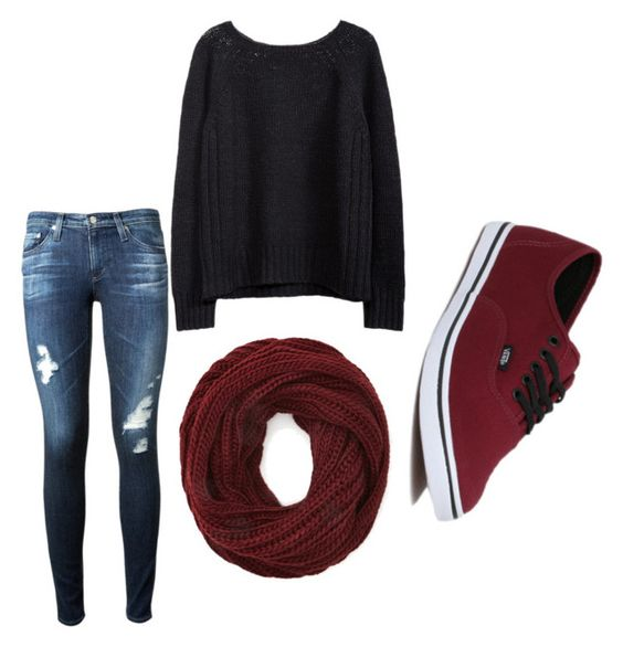 """""""Autumn outfits for me"""" by being-perfect-is-a-fantasy on Polyvore featuring AG Adriano Goldschmied, Forever 21 and Vans"""