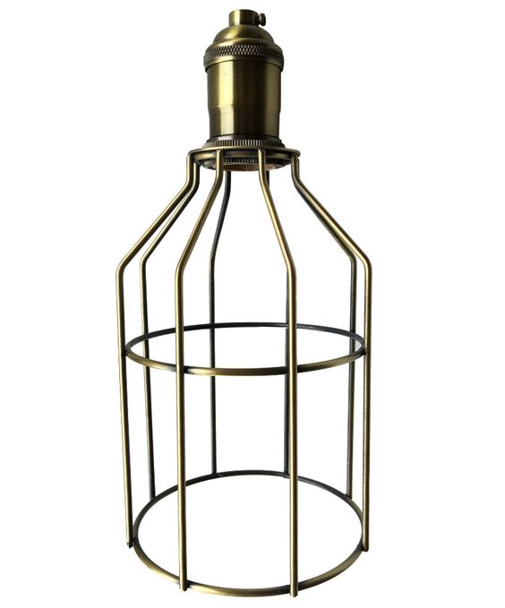 Nostalgic Bulbs - Antique Brass Cage and Socket Set , $24.95 (http://www.nostalgicbulbs.com/products/antique-brass-cage-and-socket-set.html/)