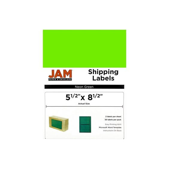 Jam Paper Shipping Labels 55 - microsoft word shipping label template