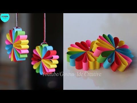 Paper Wall Hanging Ideas Home Decor Ideas Wall Decoration Ideas At Home Youtube Flower Diy Crafts Paper Flowers Craft Paper Crafts Diy